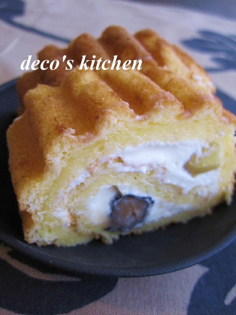 decoの小さな台所。-ビタントニオでチーズクリームロール2