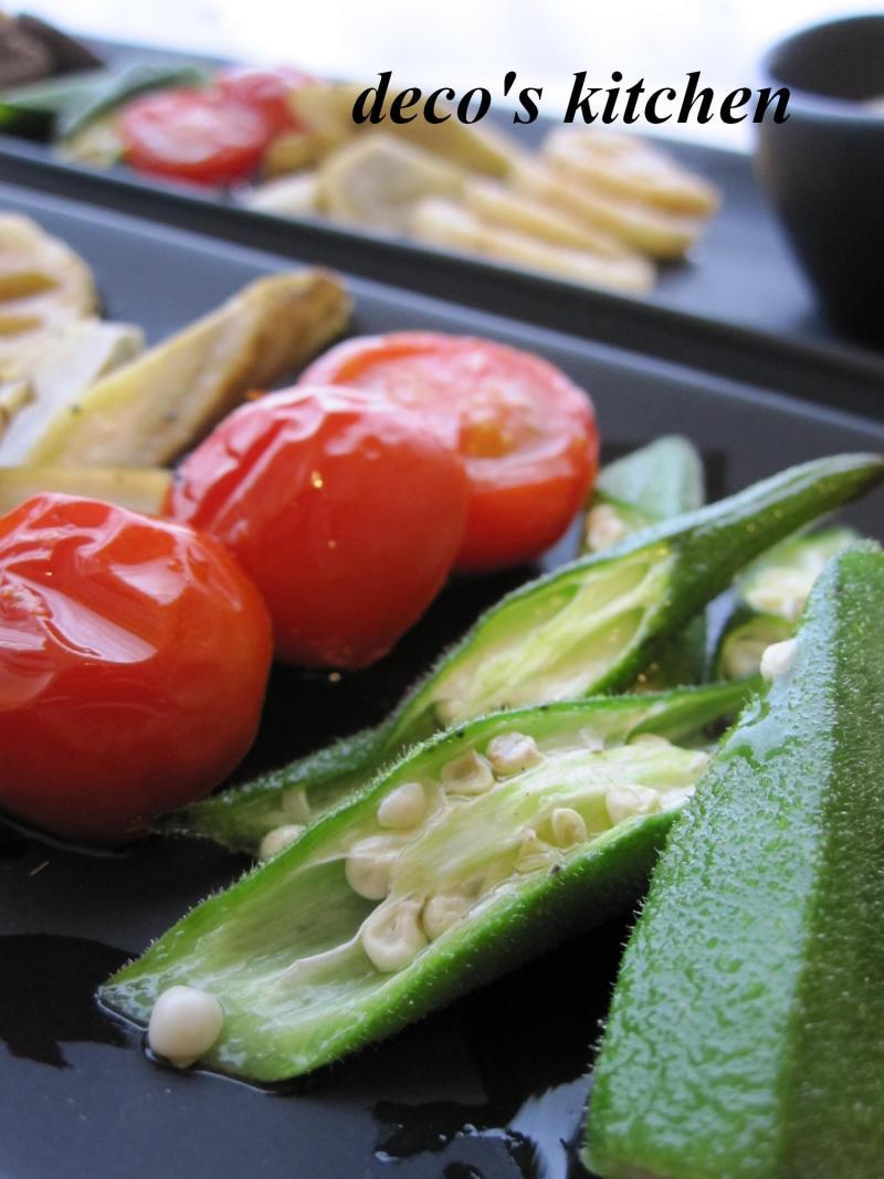 decoの小さな台所。-お豆腐ディップと焼き野菜の一皿4