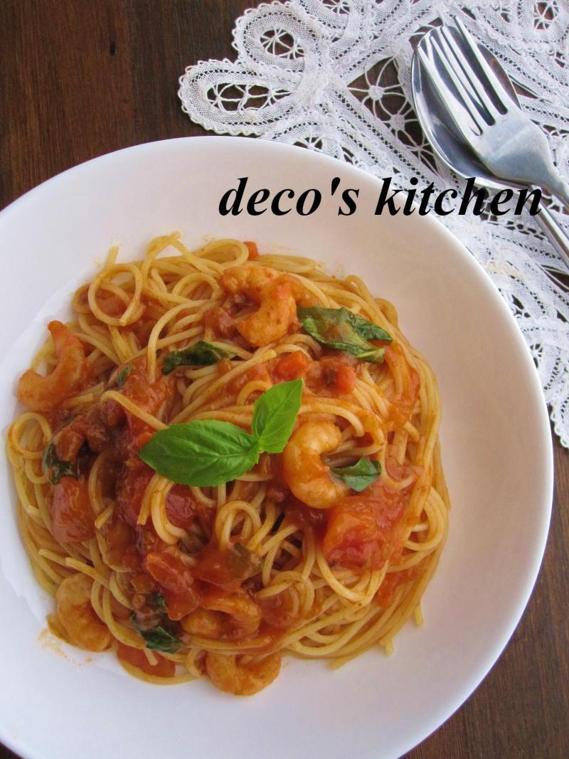 decoの小さな台所。-エスニックミートソースパスタ1