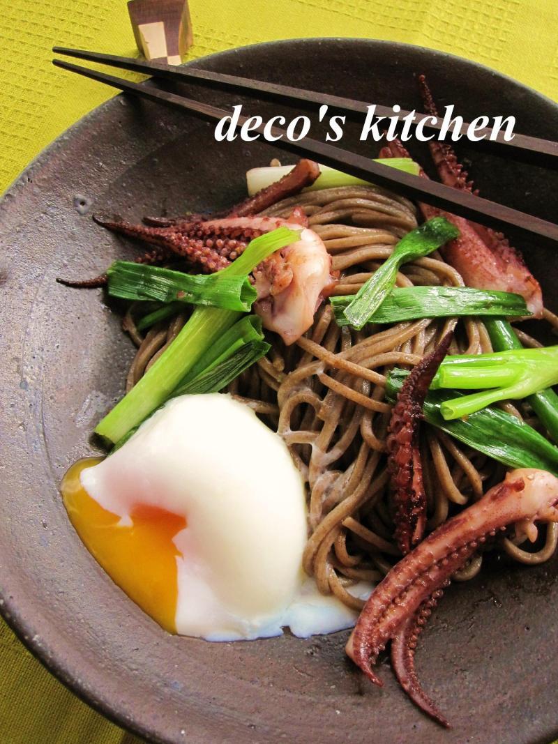 decoの小さな台所。-和蕎麦で柚子胡椒焼きそば1