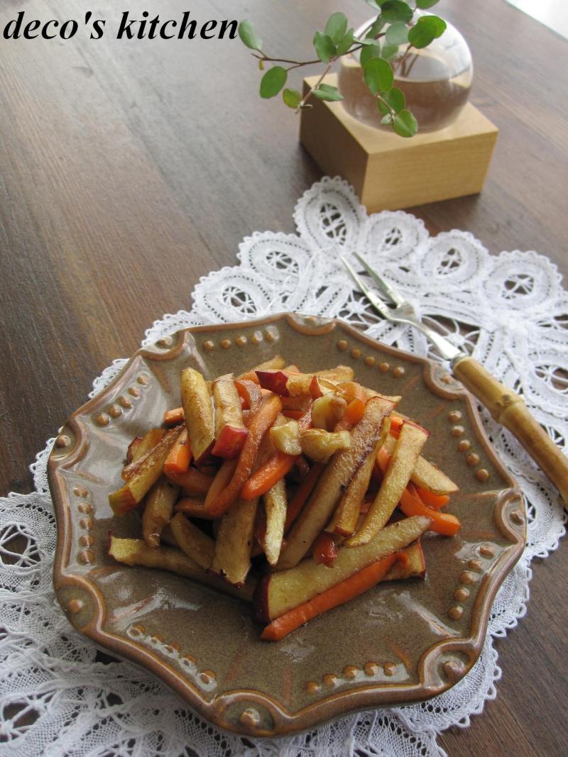 decoの小さな台所。-干し林檎と干し人参のサラダ