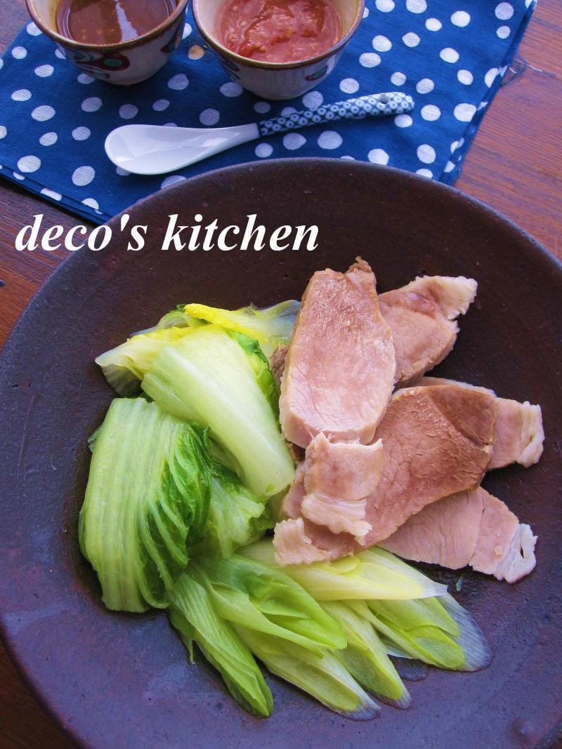 decoの小さな台所。-白菜と豚肉のさっと蒸し2