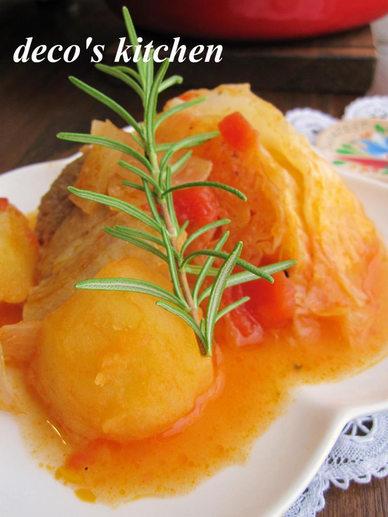 decoの小さな台所。-塩豚とじゃがいものトマト煮3