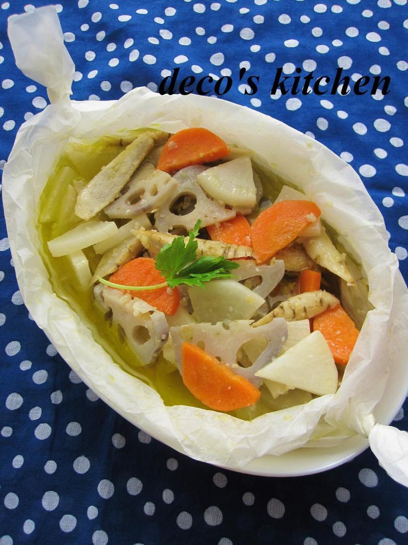 根菜の和風アヒージョ1