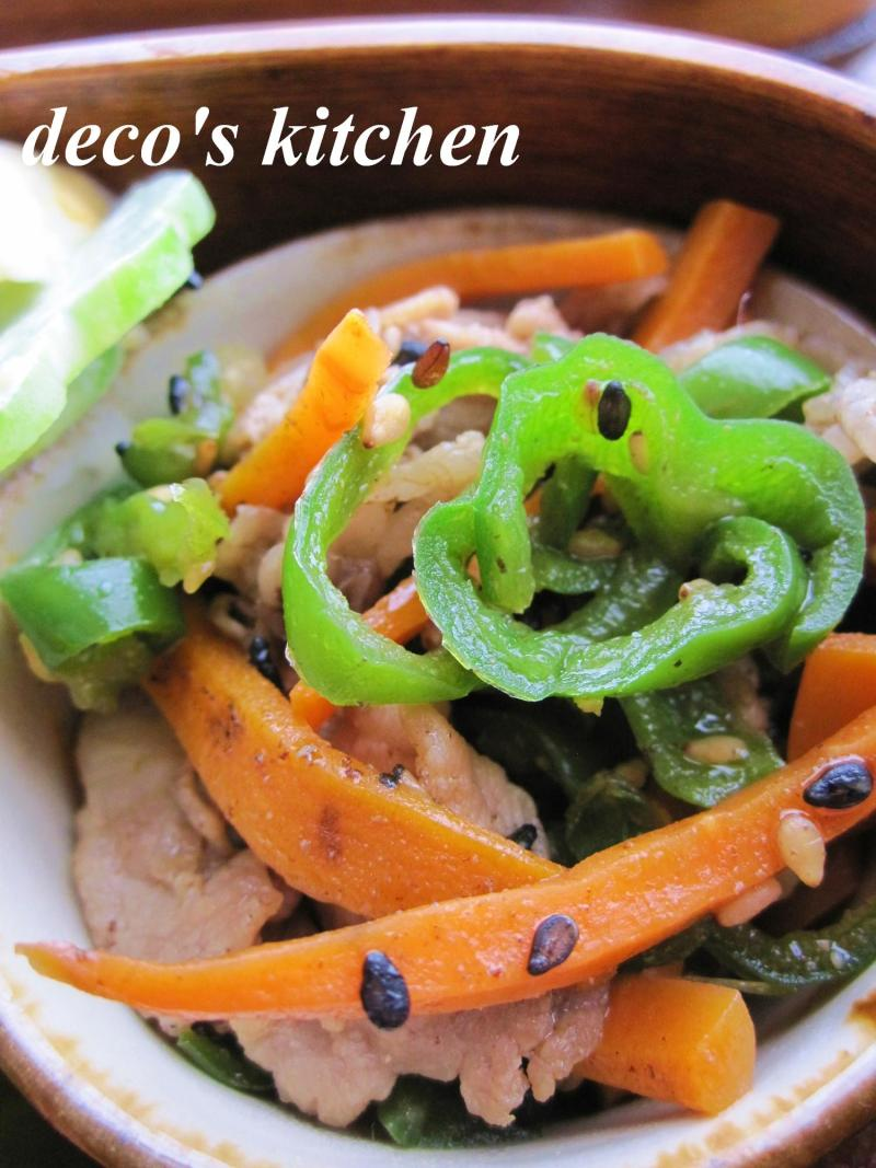 decoの小さな台所。-鶏ひき肉ときゅうりのピリ辛炒め弁当6