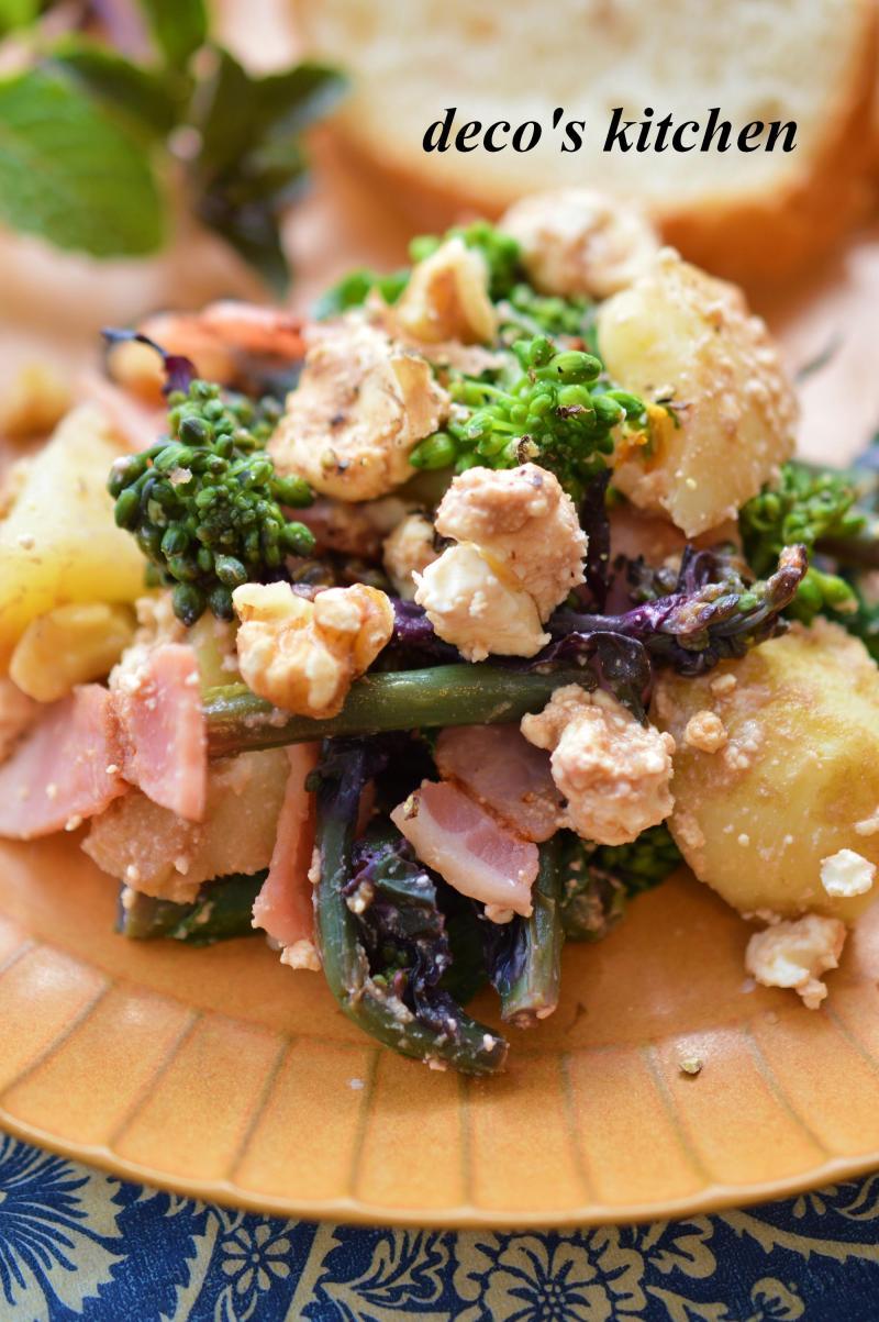 春野菜とベーコンのサラダ6