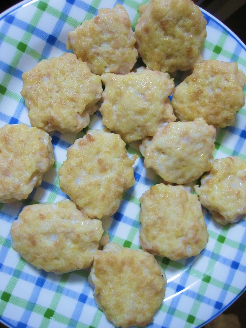 decoの小さな台所。-離乳食★豆腐とひき肉のハンバーグ6