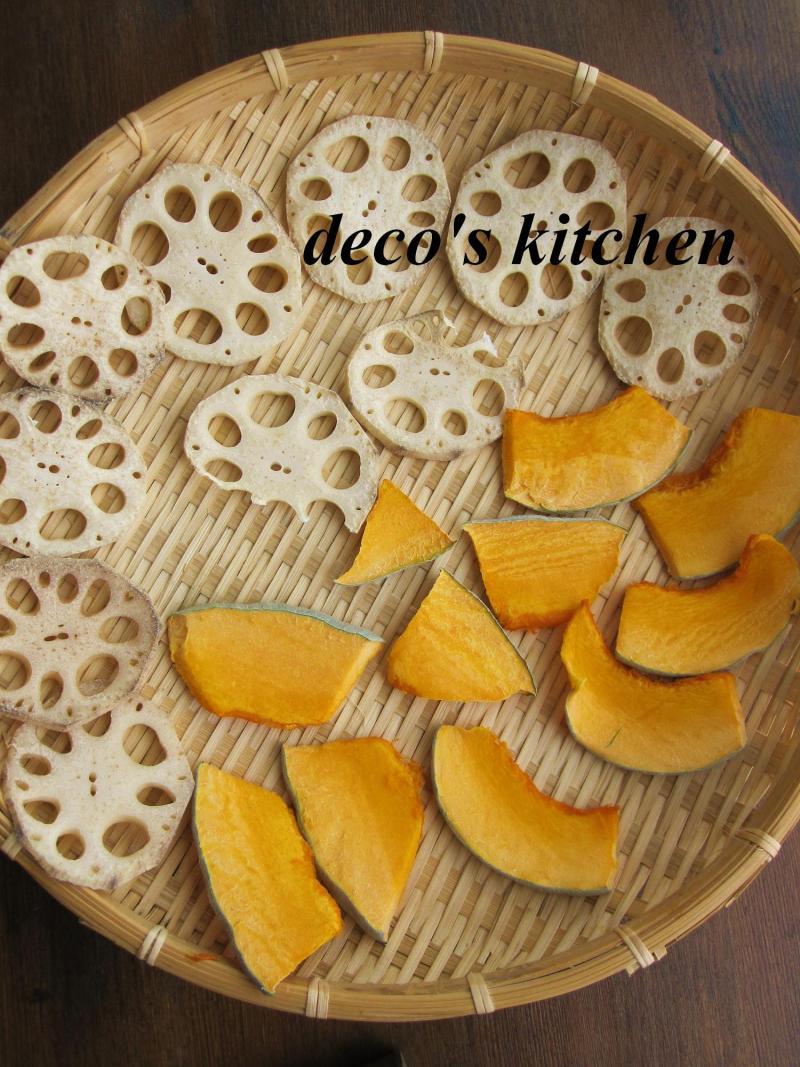 decoの小さな台所。-干しかぼちゃ&蓮根のブルスケッタ6