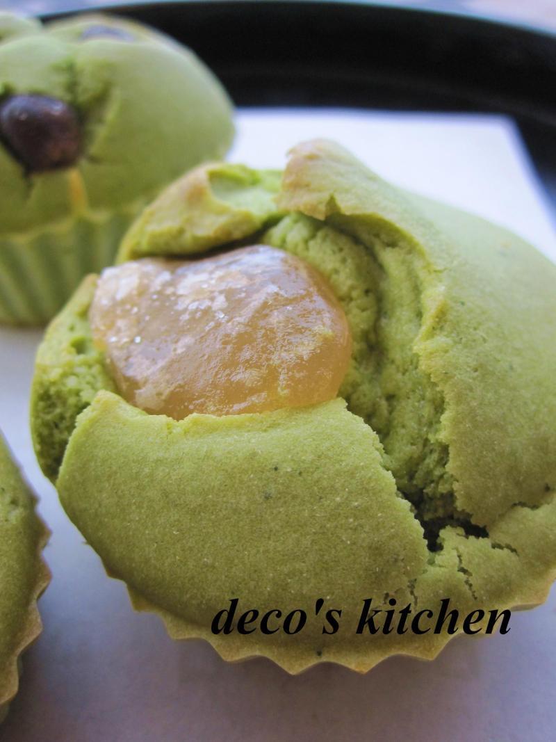 decoの小さな台所。-抹茶と甘納豆のもっちりケーキ6