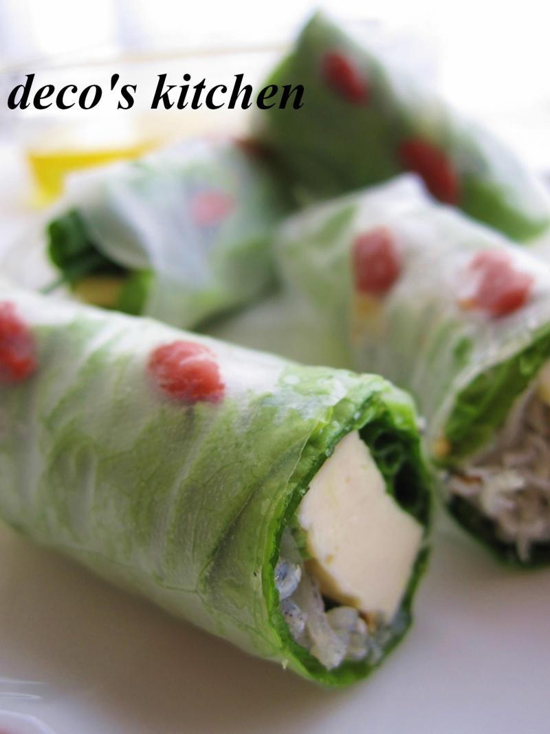 decoの小さな台所。-豆腐のオイル漬け生春巻き5
