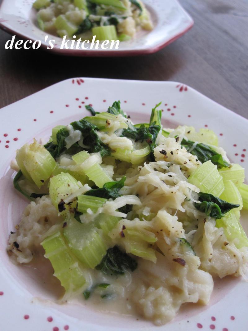 decoの小さな台所。-セロリと帆立のクリーミィ炒め2