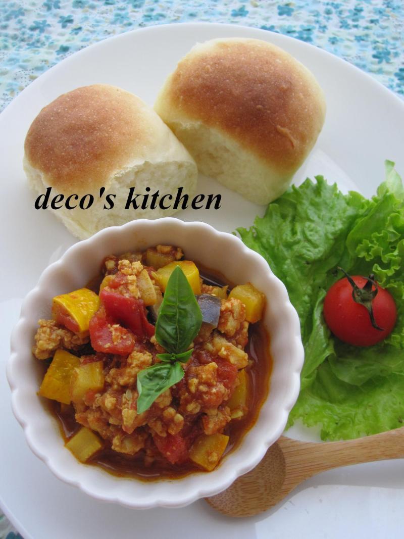 decoの小さな台所。-ルクエパンでカフェ風ランチ2