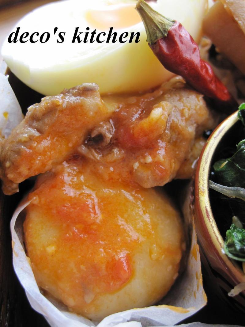 decoの小さな台所。-生姜トマト味噌煮込み弁当2