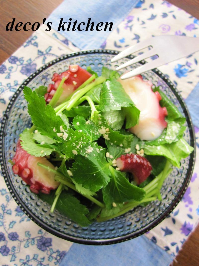 decoの小さな台所。-タコと三つ葉のエスニック風サラダ1