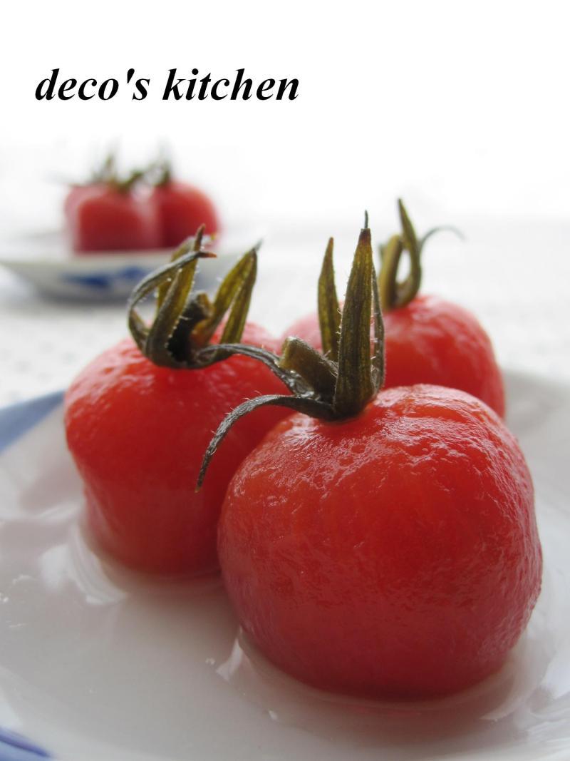 decoの小さな台所。-プチトマトのゆず胡椒甘酢2