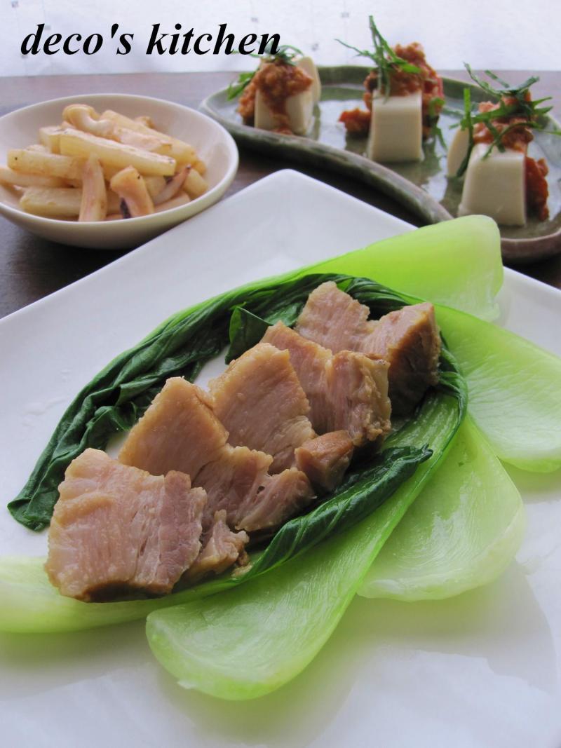 decoの小さな台所。-豚バラのオイスター醤油青梗菜添え1
