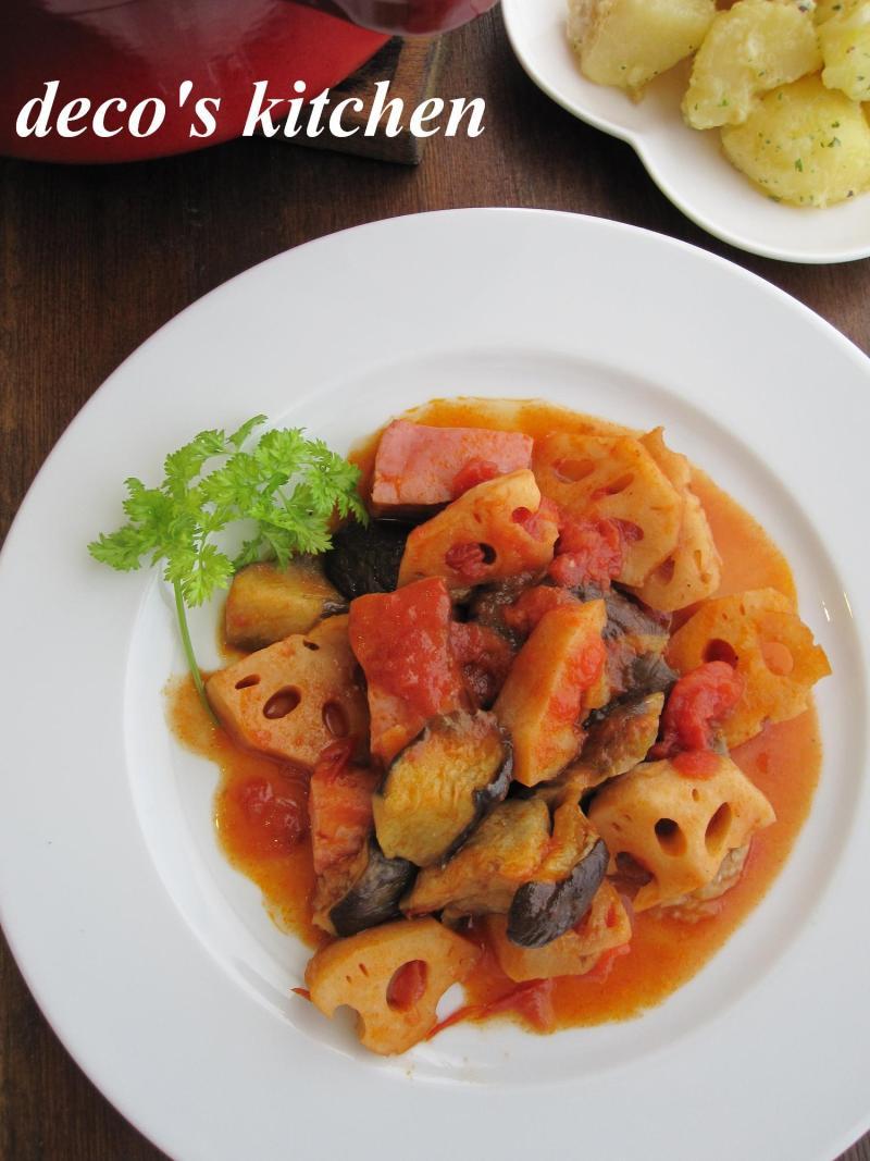 decoの小さな台所。-干し野菜とベーコンのトマト煮2