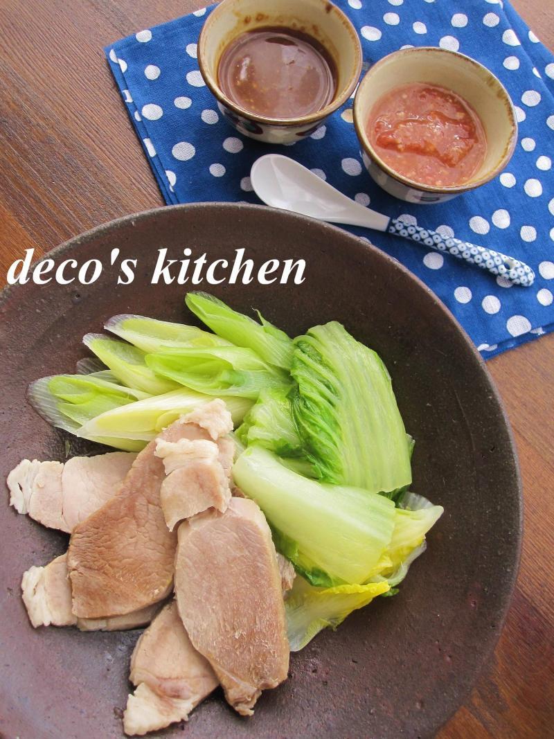 decoの小さな台所。-白菜と豚肉のさっと蒸し1