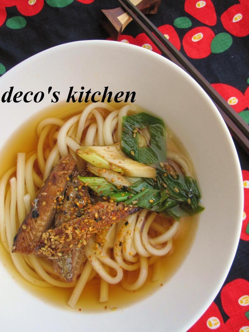 decoの小さな台所。-長ねぎとさんま蒲焼缶のさっと炒め6