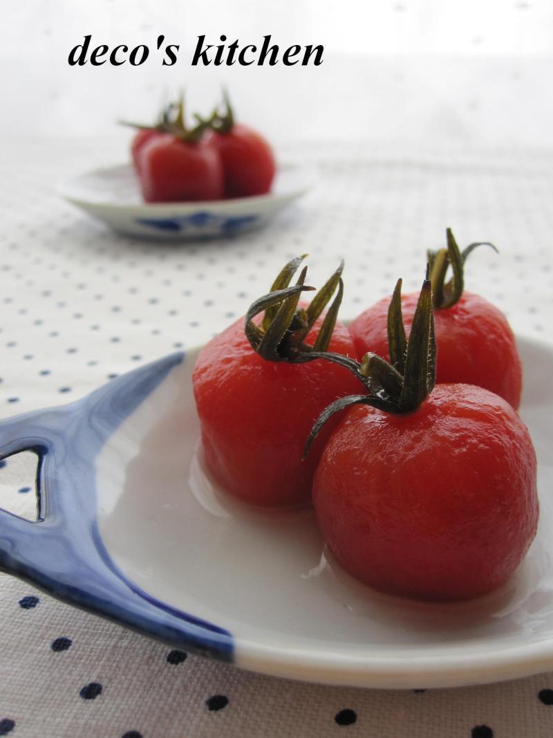 decoの小さな台所。-プチトマトのゆず胡椒甘酢1