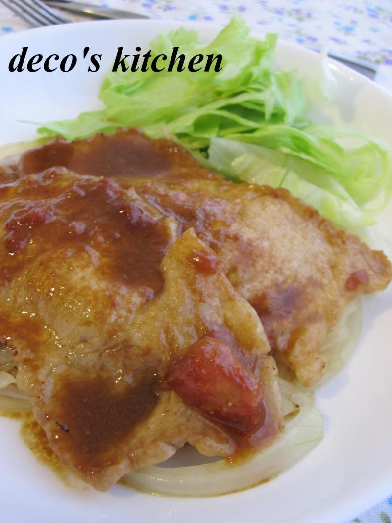decoの小さな台所。-豚のトマみそ生姜焼き2