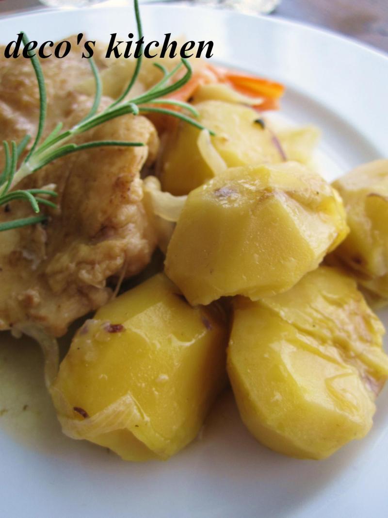 decoの小さな台所。-栗と鶏もも肉の白ワイン煮込み5