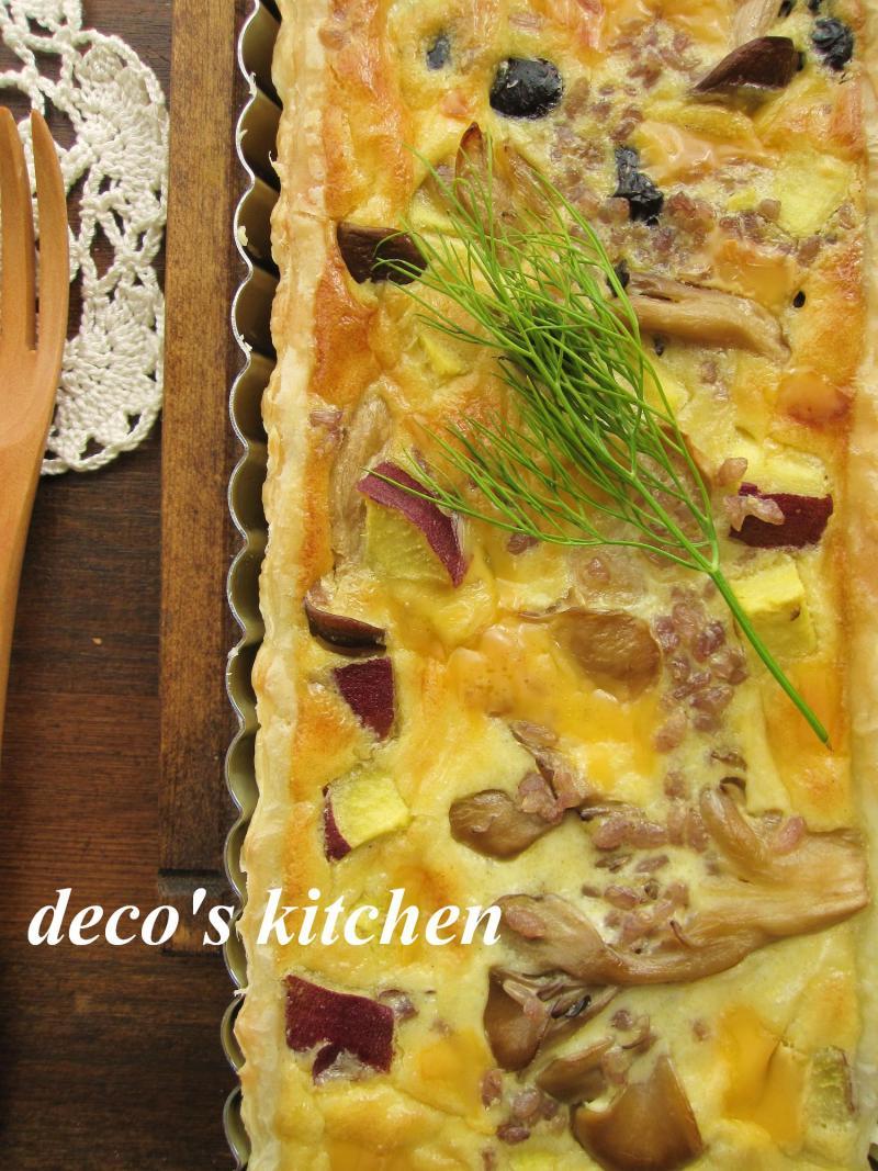 decoの小さな台所。-きのことさつまいもの玄米キッシュ2