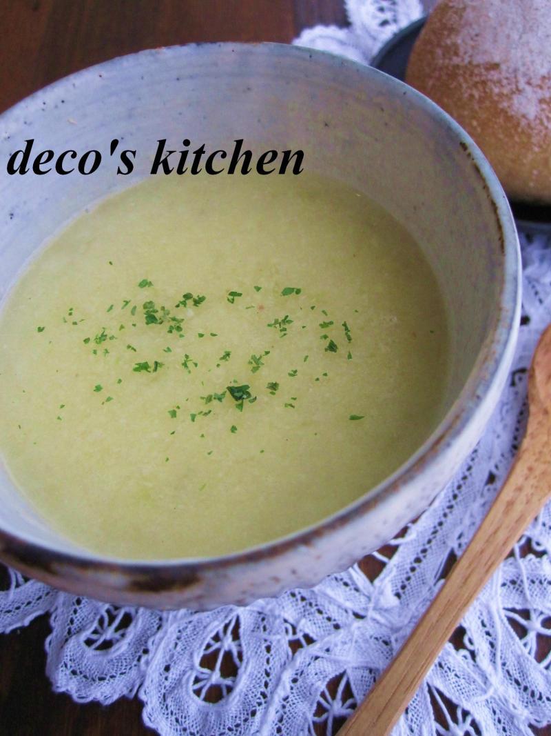 decoの小さな台所。-春キャベツと青大豆のポタージュ3