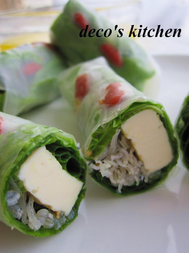 decoの小さな台所。-豆腐のオイル漬け生春巻き4