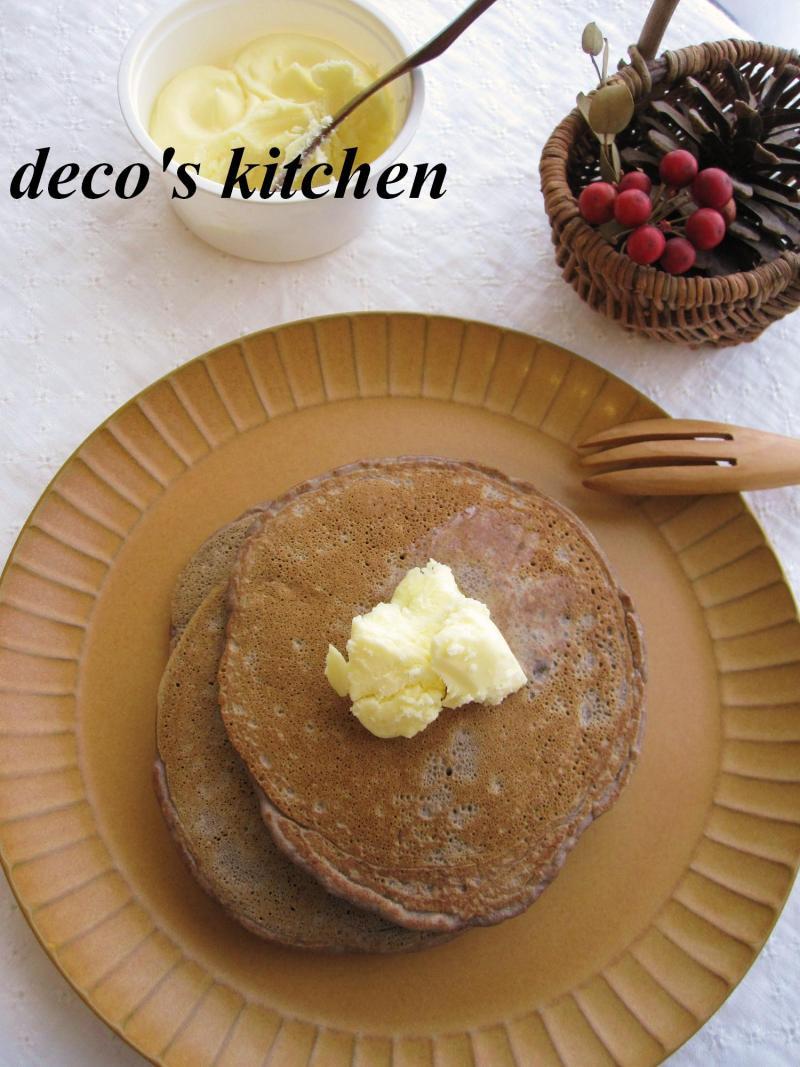 decoの小さな台所。-チョコバナナパンケーキ1