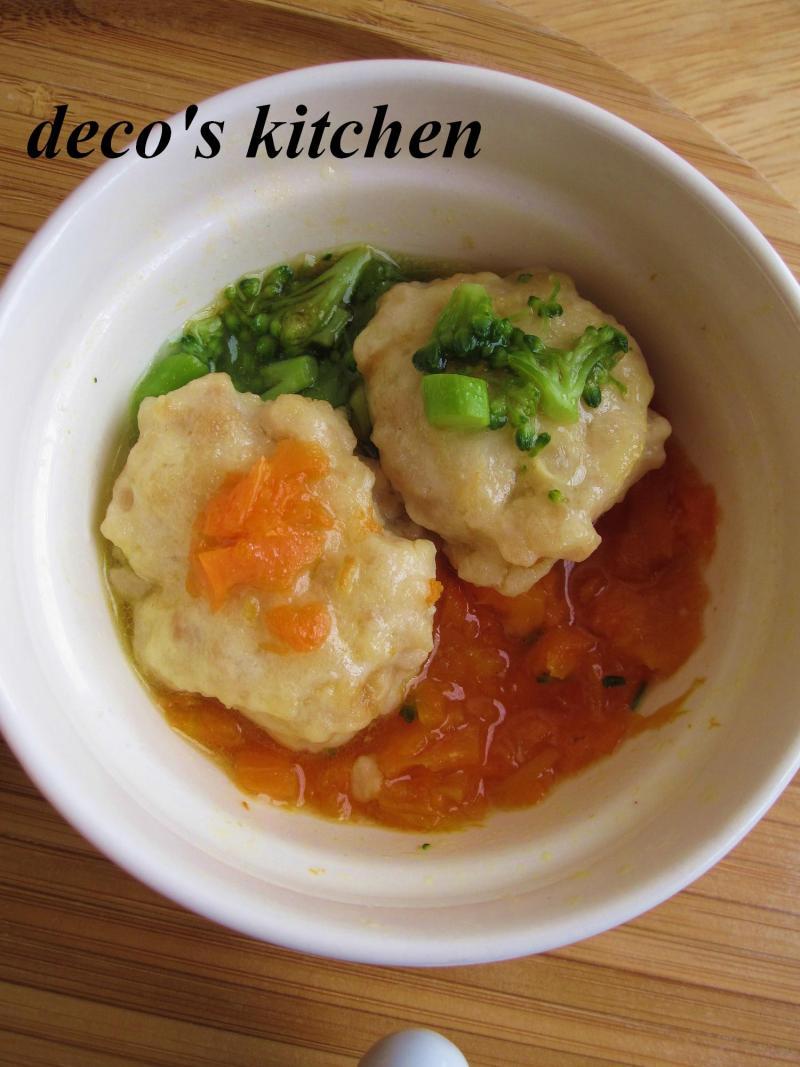 decoの小さな台所。-離乳食★豆腐とひき肉のハンバーグ4