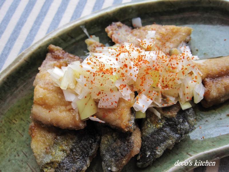 decoの小さな台所。-秋刀魚のサクふわ揚げ焼き
