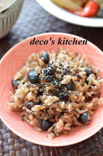 炒り黒豆ご飯5