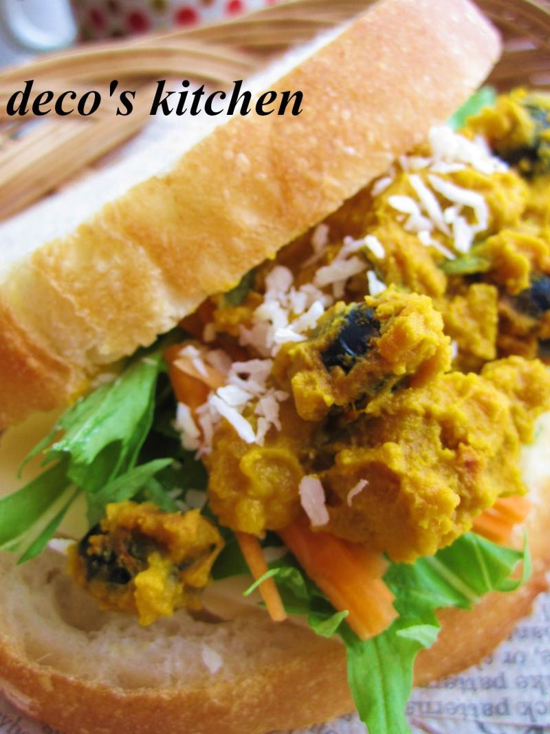 decoの小さな台所。-ココナッツ風味のかぼちゃと黒豆のサラダ6