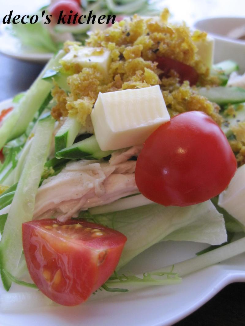 decoの小さな台所。-カレー塩のカリカリサラダ3