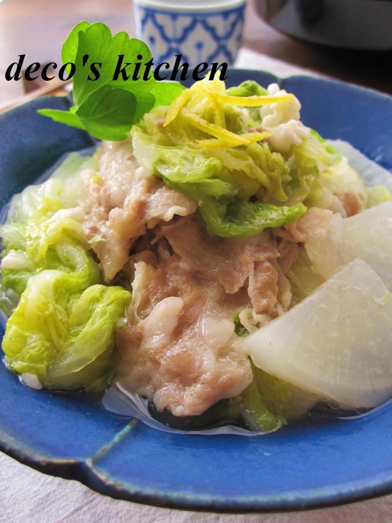 豚肉と大根と白菜の塩麹蒸し煮6