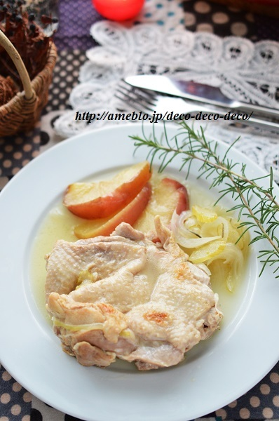 チキンとリンゴの煮込み3