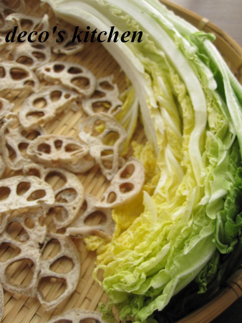 decoの小さな台所。-干し白菜と蓮根の醤油麹炒め8