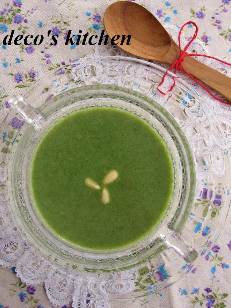 decoの小さな台所。-ほうれん草と長芋の塩麹ポタージュ1