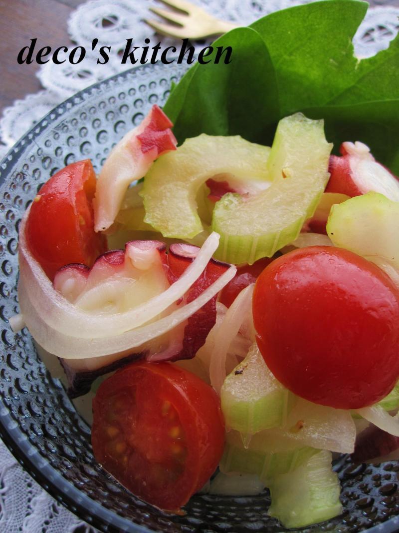 decoの小さな台所。-新玉ねぎとセロリとトマトのマリネ5