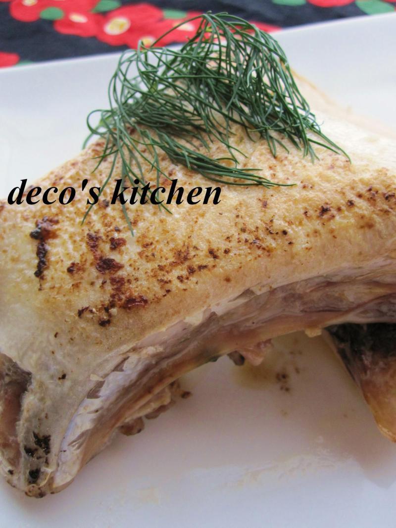 decoの小さな台所。-鰤かまのオリーブオイルソテー6