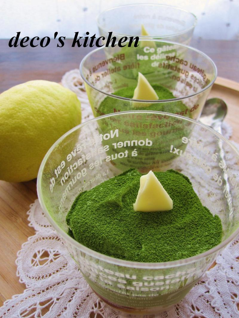 decoの小さな台所。-抹茶レモンティラミス1