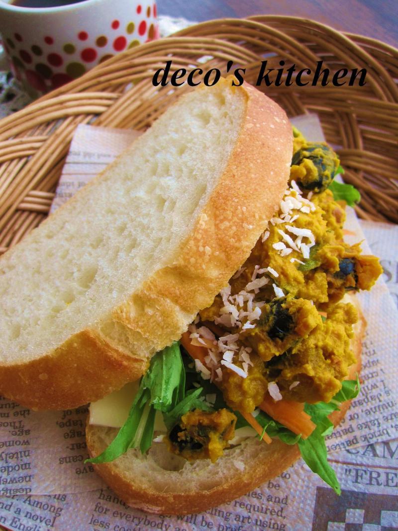 decoの小さな台所。-ココナッツ風味のかぼちゃと黒豆のサラダ5