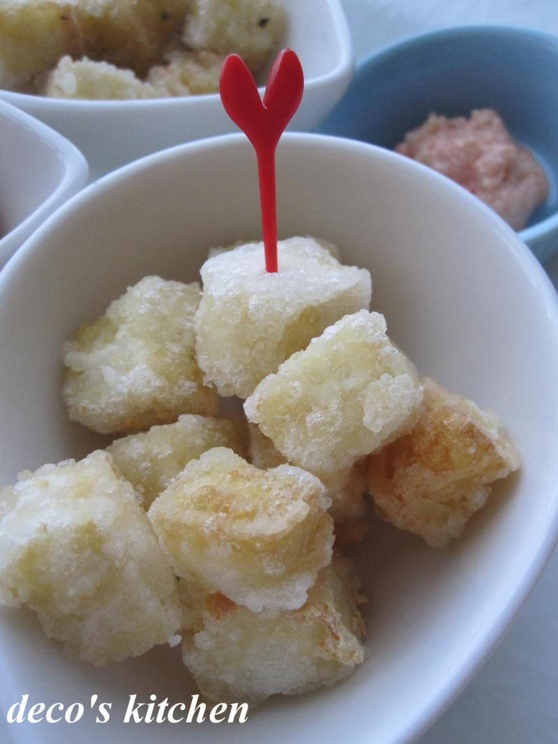 decoの小さな台所。-すなっく豆腐。~明太マヨ添え