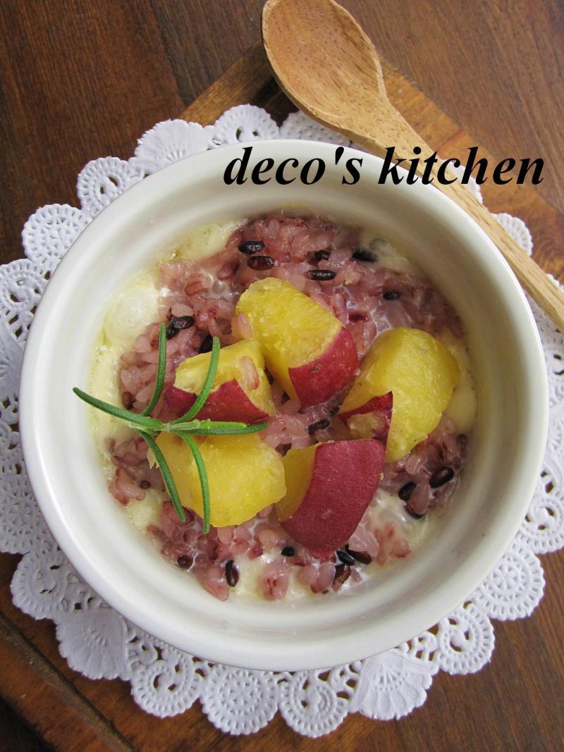 decoの小さな台所。-さつまいもドリア風ココットカマン1