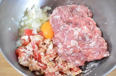 トマトハンバーグ工程5