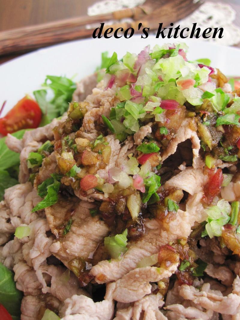 decoの小さな台所。-香味野菜もりもり豚しゃぶサラダ3