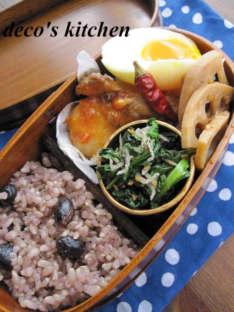 decoの小さな台所。-生姜トマト味噌煮込み弁当1