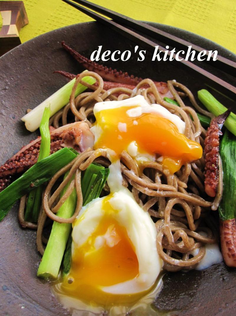 decoの小さな台所。-和蕎麦で柚子胡椒焼きそば3