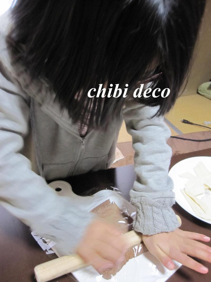 decoの小さな台所。-ちびdecoとケーキ4